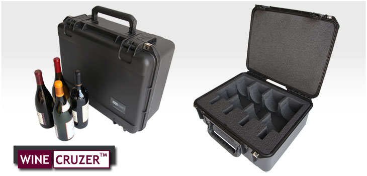 wine travel case holds 4 bottles