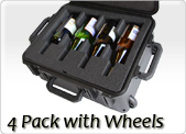 four pack wine carrier with wheels