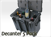 wine carrier for decanter and 5 wine bottles