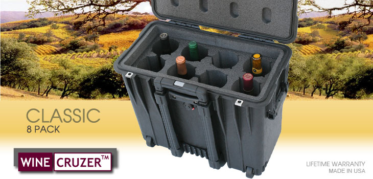 8 Pack Wine Carrier with wheels