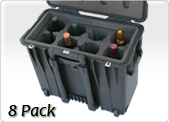 eight pack wine travel case