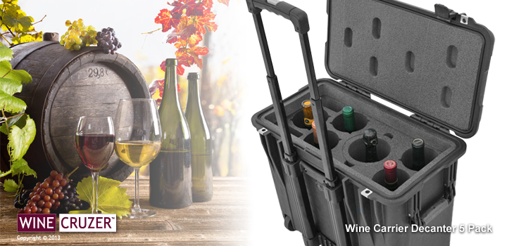wine carrier 5 pack with decanter